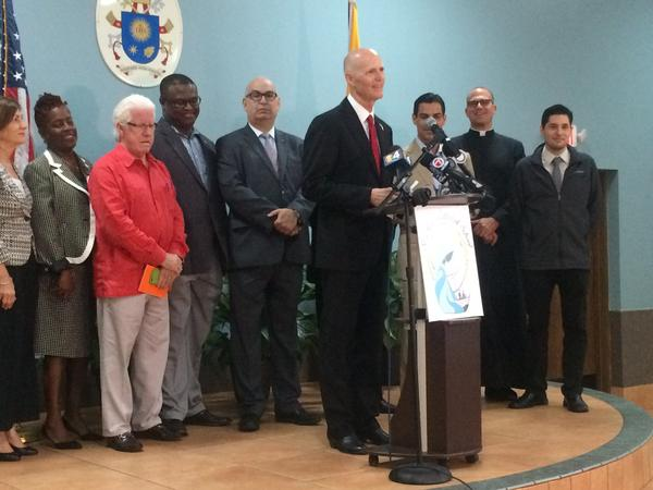 Florida Gov. Rick Scott announced Friday, Dec. 2, 2016 that Miami's Little River neighborhood is no longer a Zika zone.