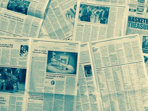 Newspaper circulation has been shrinking across the U.S.