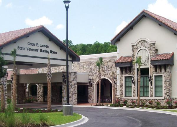 One of six VA-funded, state run nursing homes in Florida the Clyde E. Lassen home in St. Augustine.