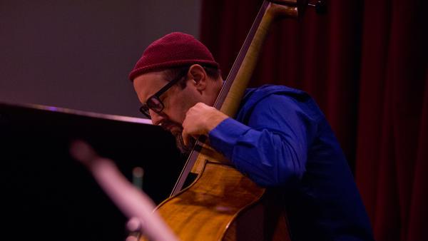 Bassist John Hébert performs live at Winter Jazzfest.