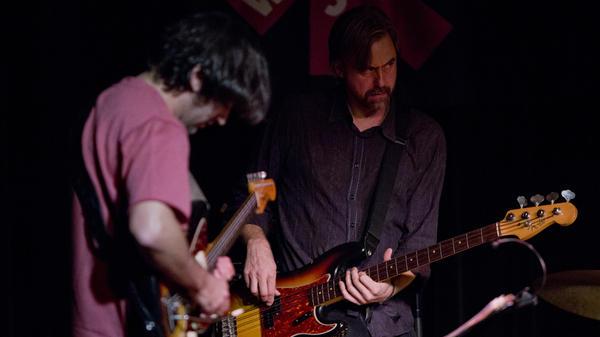 Guitarist Jonathan Goldberger and bassist Chris Lightcap perform with Chris Lightcap's Superette at Winter Jazzfest.