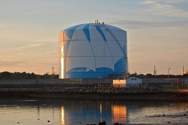 A liquefied natural gas storage facility in Massachusetts.