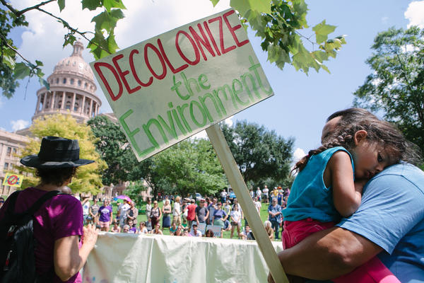 A file photo of a rally outside the Capitol in September of 2014.