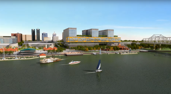 A proposed 31-acre world headquarter complex was unveiled in Peoria in 2015, along with a promise to remain in Peoria for the long term. That proposal was shelved in Tuesday's announcement.