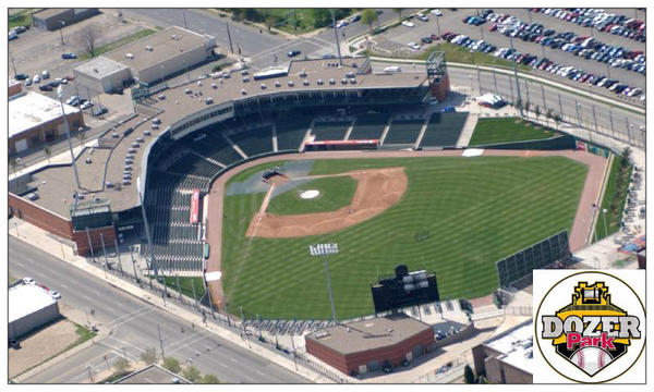 Since 2013, part of Caterpillar's commitment to downtown Peoria includes a $2 million investment in the Dozer Park baseball stadium.