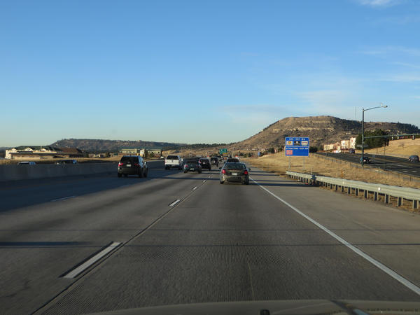 I-25, near Castle Rock on the Front Range. The list provided by Colorado officials looks to add additional capacity lanes to north and southbound I-25.