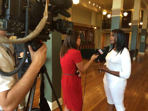 Kitara Johnson spoke with reporters about Rachel Dolezal's deception in Spokane.