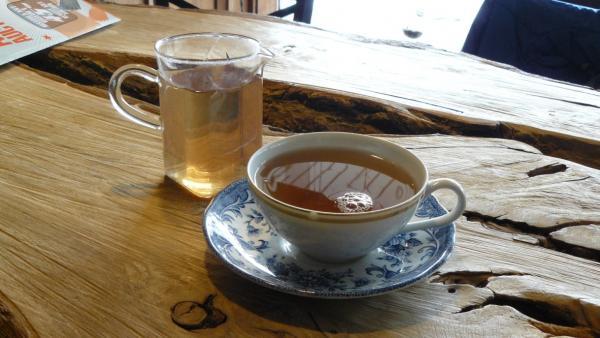 Purple tea at Lake Missoula Tea Company in Missoula, MT.