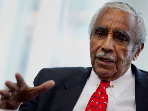 Rep. Charles Rangel, a Democrat from New York, speaks during a June interview in New York.