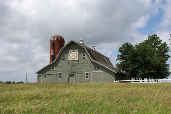 The Aarons restored the old barn on their property, which was built in 1935.