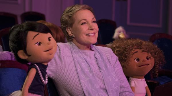 Julie Andrews presides over a quintet of youngsters who are getting their first chance at putting on a play in <em>Julie's Greenroom,</em> which is available on Netflix on Friday.