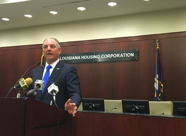Governor John Bel Edwards announced the beginning of the Louisiana Housing Heroes Initiative on Tuesday. The program aims to make more affordable housing units available for those still displaced by the March and August floods of 2016.