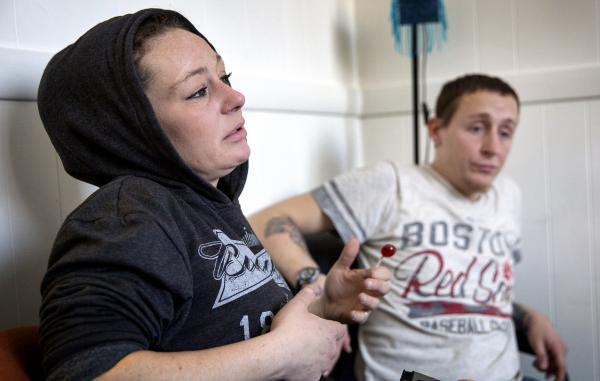 Allyson and Eddie, clients at the AAC Needle Exchange and Overdose Prevention Program in Cambridge, Mass., say they carry naloxone and try to never use drugs alone to reduce the risk of overdosing.