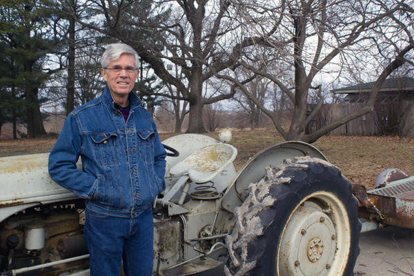 Rob Fleming, a grand-nephew of Henry A. Wallace, uses this 1947 Ford 2n as he works to restore the prairie around his childhood home in Carlisle, Iowa.