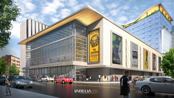 Street view of the proposed Golisano Center for the Performing Arts and Tower