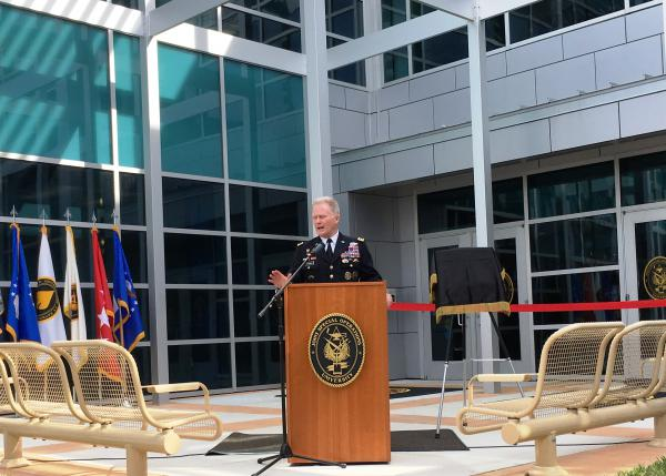 Gen. Raymond Thomas, commander of U.S. Special Operations Command, at the grand opening of JSOU, the university that keeps his special forces educated on global threats.