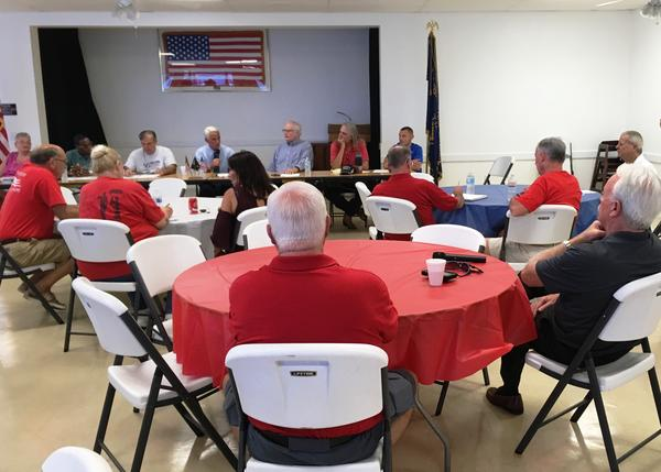 A Veterans Roundtable with U.S. Rep. Charlie Crist held April 21, 2017 at American Legion Post 273 in Madeira Beach.