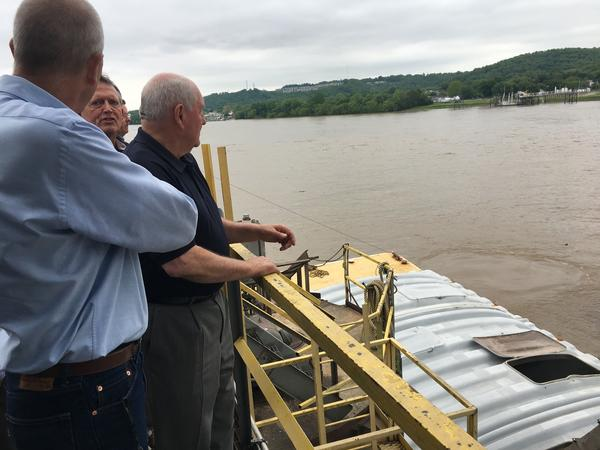 Agriculture Secretary Sonny Perdue (center) gets a look at Consolidated Grain and Barge, which could be helped with the creation of a new Undersecretary for Trade and Foreign Agricultural Affairs