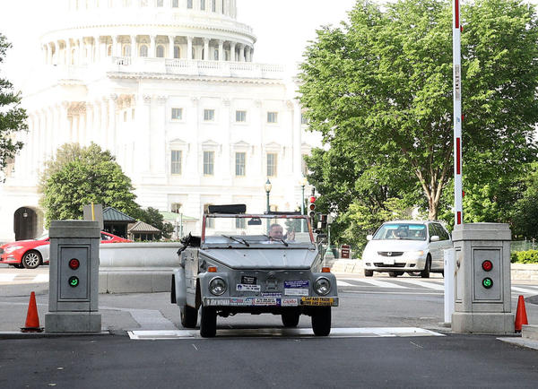 Chairman of the Senate Select Committee on Intelligence, Richard Burr (R-NC), arrives on Capitol Hill.  Yesterday the Justice Department named former FBI Director Robert Mueller as special counsel overseeing the Russia investigation.