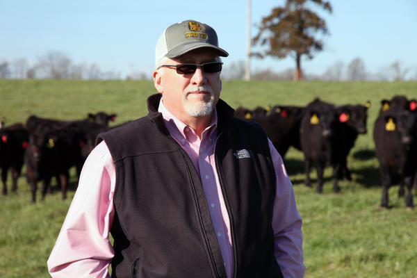 Cattle rancher Mike John runs a cow-calf operation in Hunstville, Missouri, and says he hopes international trade will open up new markets for his beef.