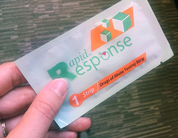 A test strip designed to help doctors check a patient's urine for fentanyl is being distributed in the Bronx to encourage users of heroin or other opioids to check what's in their syringe before they inject.
