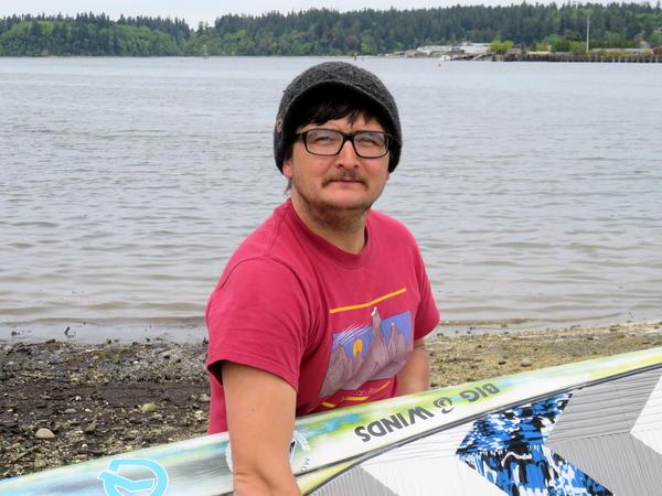 R2AK paddleboard competitor Erdogan Kirac, 32, works as a boatyard technician in Bellingham.