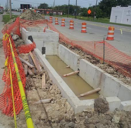 This is Detroit's first bioswale, a piece of green infrastructure in the making.