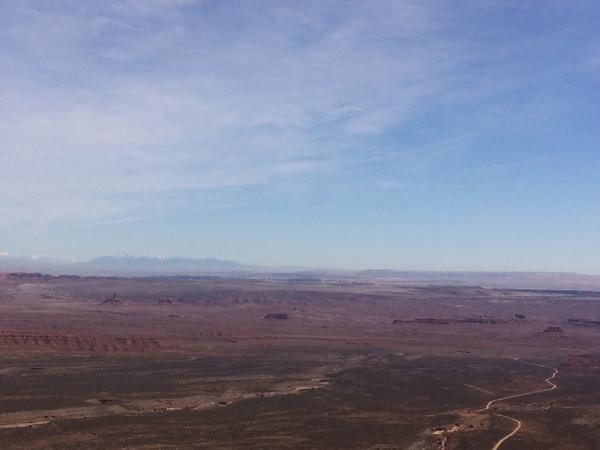Bears Ears at Top of Moqui Dugway