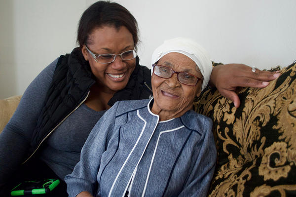Lauderhill resident Dorrisile Dervis with her grandaughter, Marie.