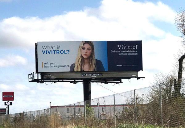 A Vivitrol billboard off the New Jersey Turnpike.