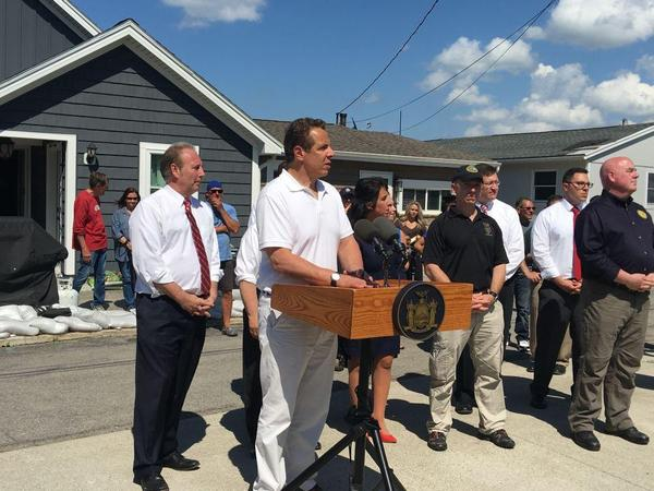 In the town of Greece in late May, Gov. Andrew Cuomo announced $7 million in grants for homeowners affected by this year's flooding along Lake Ontario.