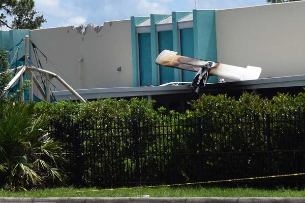 A small plane crashed into a building at Chico's headquarters