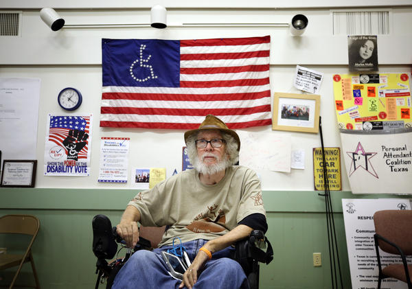 Bob Kafka, an organizer with ADAPT Texas, says proposed cuts to Medicaid under the Senate's health care bill would severely impact people with disabilities.