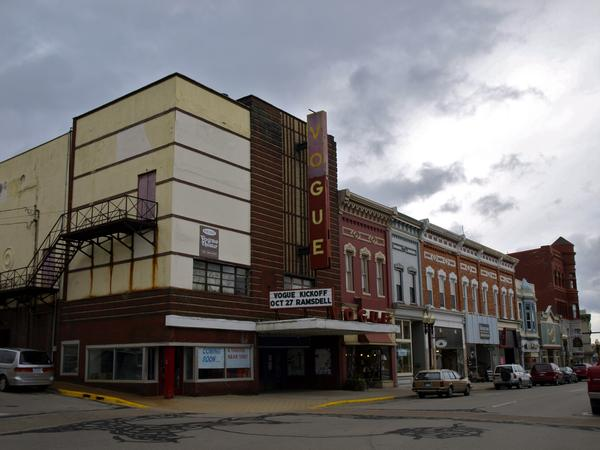 The Vogue Theater in Manistee, MI was restored after a Rural Development Office feasibility test was conducted.