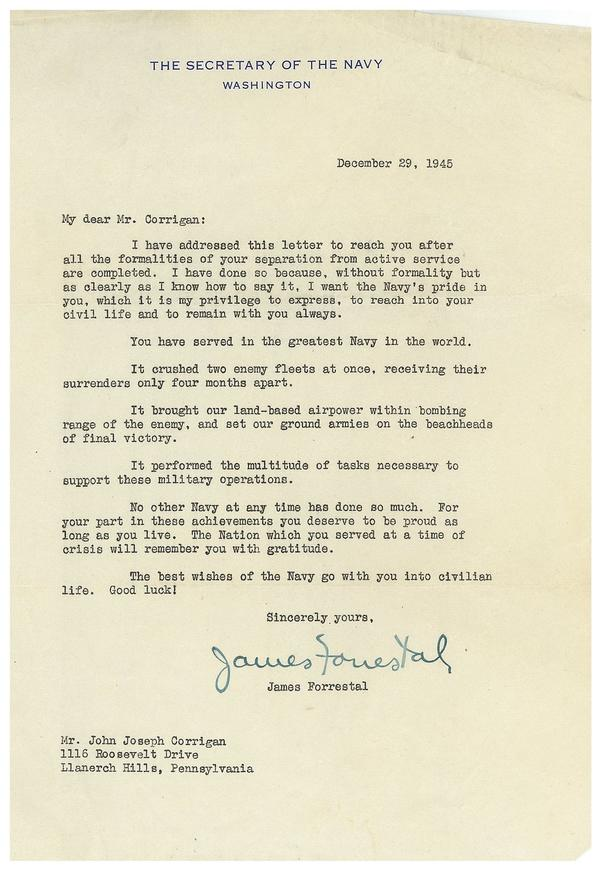 After WWII, A Letter Of Appreciation That Still Rings True | St