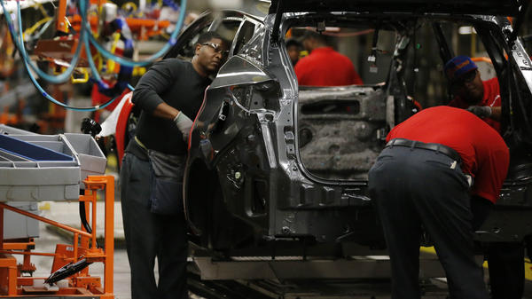 Nissan workers at a plant in Canton, Miss. The auto company received financial incentives, including tax relief, from the state for the factory.