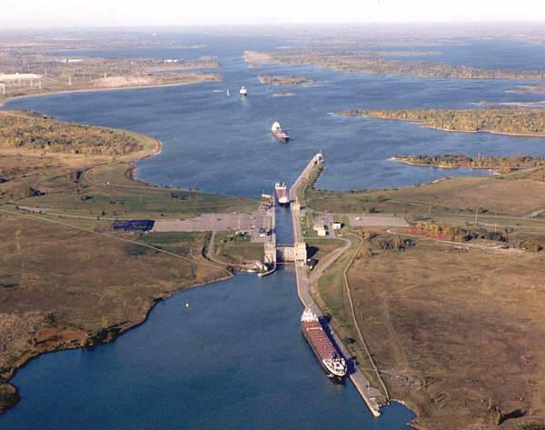 Locks along the St. Lawrence Seaway