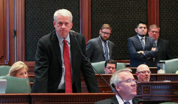 House Minority Leader Jim Durkin (R-Western Springs) urged his colleagues to sustain Gov. Bruce Rauner's budget veto.