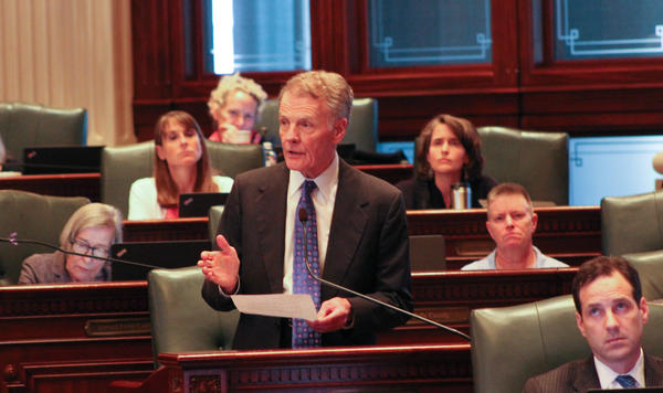 "House Speaker Michael Madigan thanked House colleagues for ""persevering through this unbelievable struggle."""