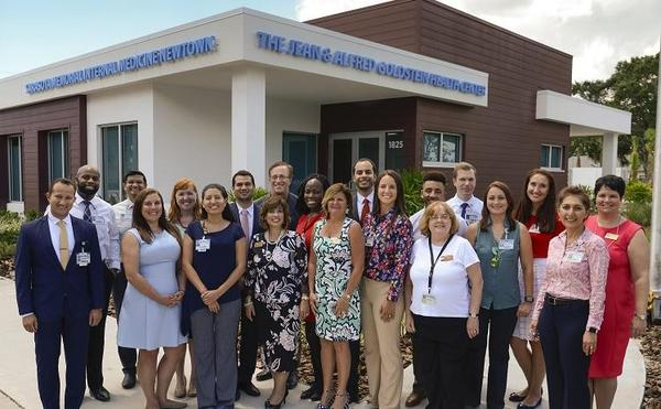 Staff at the opening of the new Jean & Alfred Goldstein Health Center in Newtown