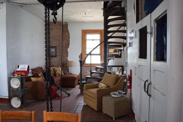 The living room of the lighthouse