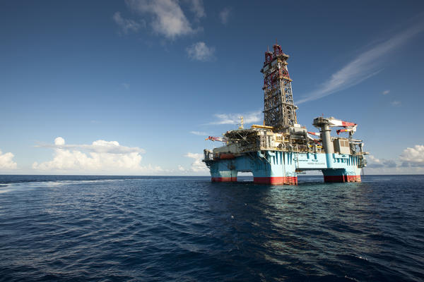 File photo of Maersk Developer, operating the Hadrian-5 well for ExxonMobil about 200 miles offshore in the KC-919 field in the Gulf of Mexico, on July 6, 2011.