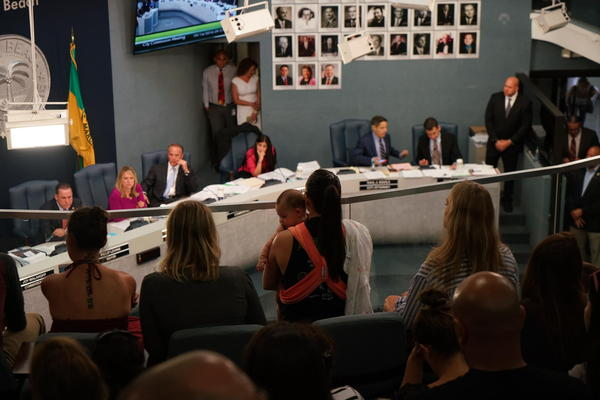 County, state and federal officials tried to reassure concerned parents at an emergency meeting on aerial Naled spraying in Miami Beach in September 2016.