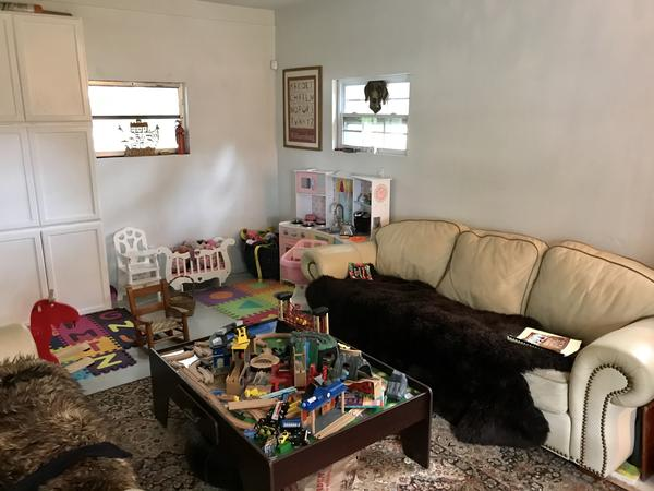 The playroom foster moms Elizabeth and Kate Dumbaugh set up in their Sarasota home. In their two years fostering, they've taken care of nine kids so far, including seven at once.