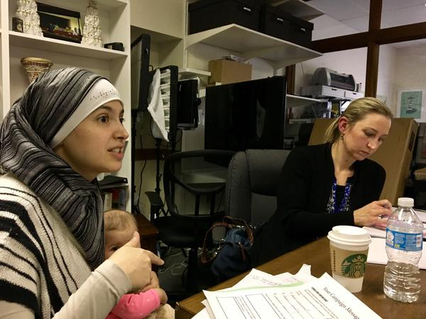 Nichole Mossalam (left) of Malden and Sarah Khatib of Walpole are both exploring bids for elected office with the help of Jetpac, a nonprofit looking to engage Muslims in civics and politics.