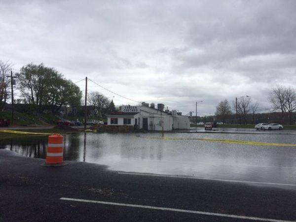Flooded business along Lake Ontario