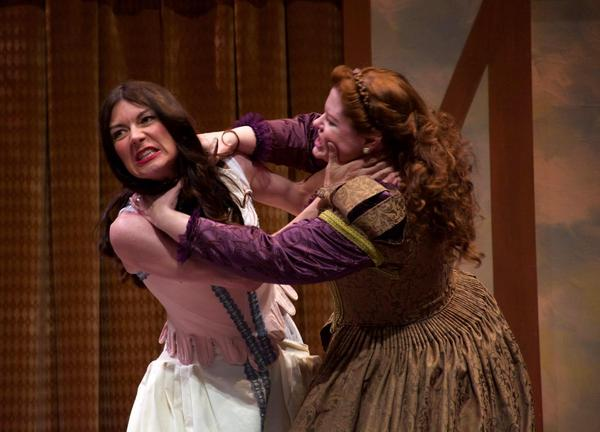 "A scene from Shakespeare's ""The Taming of the Shrew,"" performed at the Michigan Shakespeare Festival."