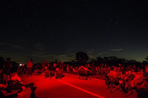 Some of the crowd observing the night sky at Big Cypress on Jan. 21, 2017.