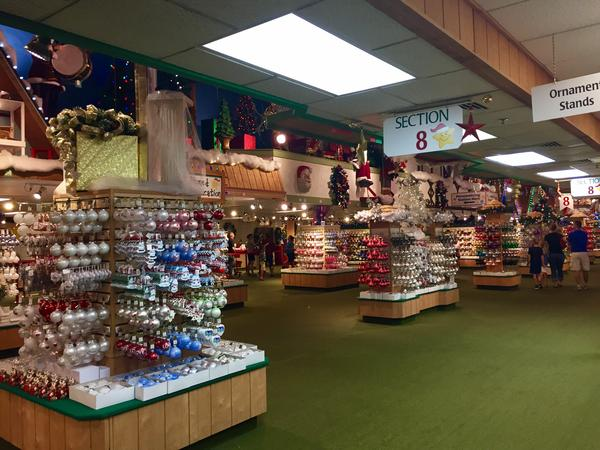A small section of Bronner's vast store.