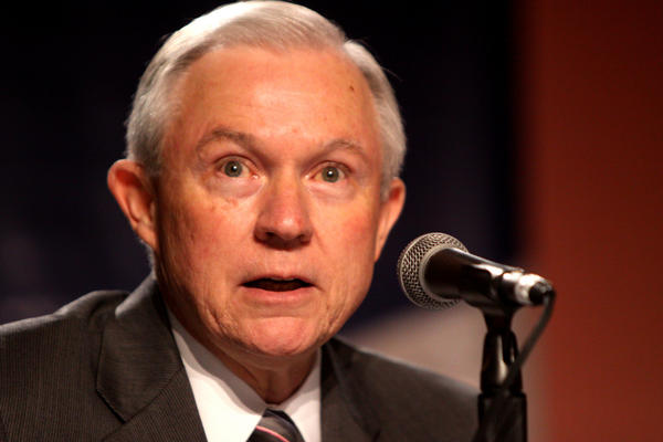 Then-Sen. Jeff Sessions speaks at the Values Voter Summit in Washington, D.C., in 2011.